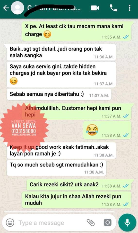 Apa Kata Pelanggan Kereta Sewa Kuala Terengganu